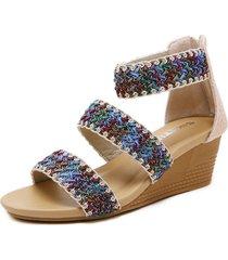 sandalias de mujer sandalias romanas tejidas