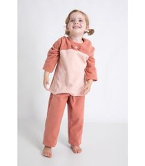 conjunto de pijama infantil acuo longo soft levíssima feminino