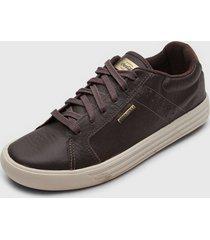 sapatênis coca cola shoes conforto marrom