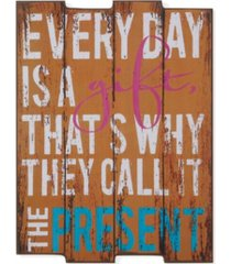 "danya b. ""everyday is a gift"" wooden wall art"
