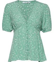 petunia ss blouse aop 10056 blouses short-sleeved groen samsøe samsøe