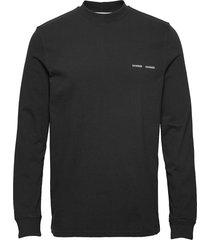 norsbro t-shirt ls 6024 t-shirts long-sleeved svart samsøe samsøe