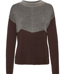 knitted pullover short 1/1 sle gebreide trui bruin betty barclay