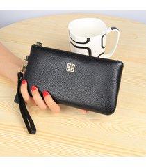 gran capacidad cartera para mujer/ billetera con-negro