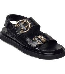 sandals 2751 shoes summer shoes flat sandals svart billi bi