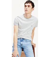 tommy hilfiger men's slim fit organic cotton t-shirt medium grey/white - xxxl