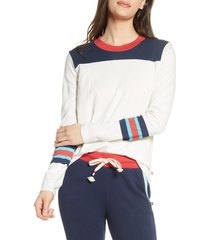 women's sol angeles colorblock crewneck pullover