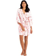 girl & a serious dream botanical love floral kimono robe
