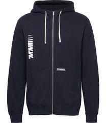 danny zip hoodie hoodie trui blauw wood wood