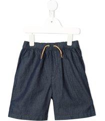 velveteen luca drawstring shorts - blue