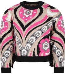 emilio pucci multicolor sweater for girl