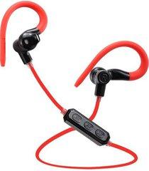 audifonos manos libres bluetooth deportivos, m1 control de voz bluetooth inalámbrico running sport auriculares auriculares estéreo earbud auriculares para el teléfono (rojo)