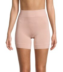 hue women's seamless shaping shorts - ballet - size m