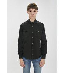 camisa negra airborn cowboy