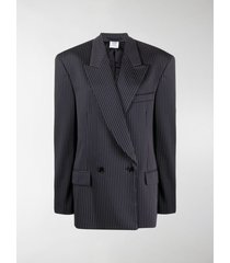 vetements oversized pinstripe blazer
