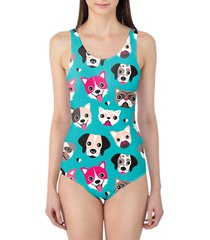 puppy party women's swimsuit