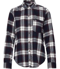 holiday plaid långärmad skjorta multi/mönstrad abercrombie & fitch