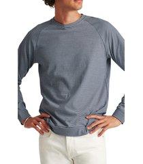 men's bonobos men's stripe raglan long sleeve t-shirt, size xx-large - blue