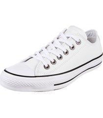 zapatilla blanca converse chuck taylor all star leather