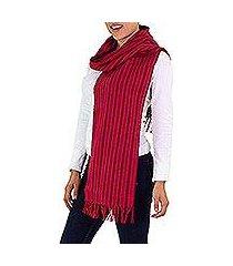 cotton scarf, 'bougainvillea fire' (el salvador)