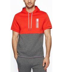 boss men's short-sleeved hooded sweatshirt