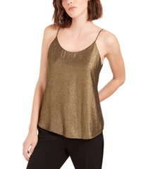 bar iii chiffon metallic foil top, created for macy's