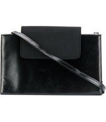 a.n.g.e.l.o. vintage cult 1980's structured shoulder bag - black