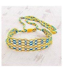 cotton macram headband, 'golden shores' (costa rica)