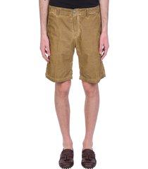 massimo alba vela shorts in beige cotton