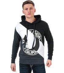 mens diagonal pullover hoody