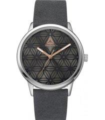 reloj chelsea filgiree leather plateado reebok