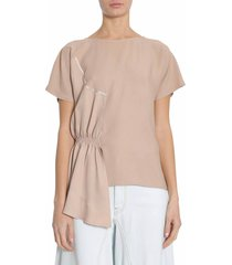 mm6 maison margiela t-shirt with applied ruffled detail