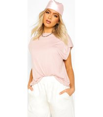 tall shoulder pad t-shirt, peach