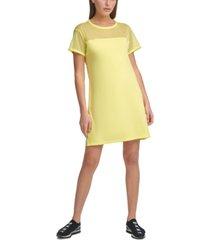 dkny sport mesh-blocked t-shirt dress