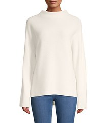 ribbed wool & cashmere funnelneck sweater