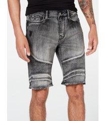 guess men's slim-fit moto shorts