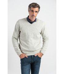 sweater gris oxford polo club jaguar