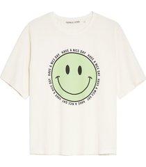 catwalk junkie 2102010208 201 t-shirt happy face off white