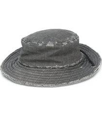 a cold wall distressed mariner's cap - grey