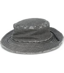 a-cold-wall* distressed mariner's hat - grey