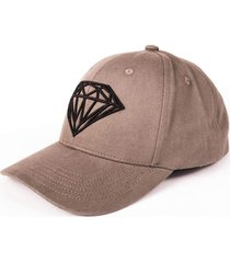bone diamond brilliant baseball cap cinza