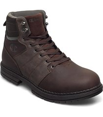 high cut shoe new upstate snörade stövlar brun champion