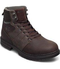 high cut shoe new upstate snörade stövlar brun champion