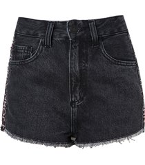 shorts john john boy alto derry feminino (jeans black medio, 50)