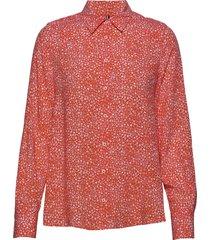 danee blouse ls overhemd met lange mouwen oranje tommy hilfiger