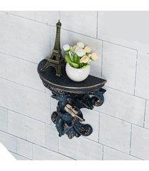 planta de la maceta del colgante de pared de yeso de ángel cupido corbel plataforma rococó arte - azul