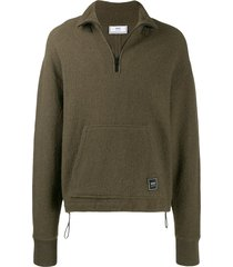 ami boiled wool sweatshirt - green