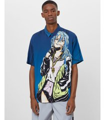 anime shirt met print