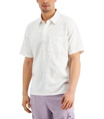 inc international concepts men's oversized-fit floral polo shirt, created for macy's