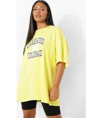 plus overdye colorado t-shirt, yellow